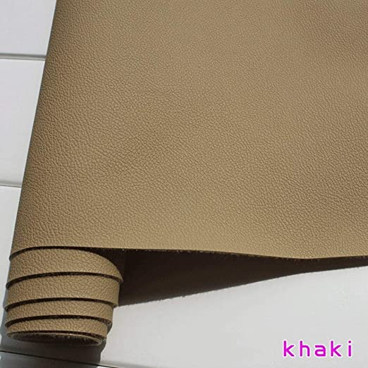 Tan Heavy Feel Faux Leather Leatherette Vinyl PVC Upholstery Fabric
