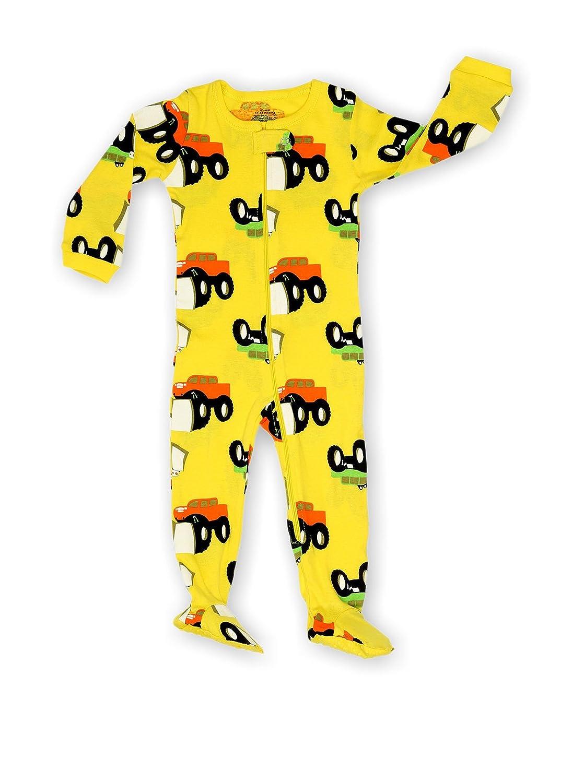 Elowel Neonati maschi zampe Mostro Camion pigiama 100% cotone (formato 6 M-5 anni)