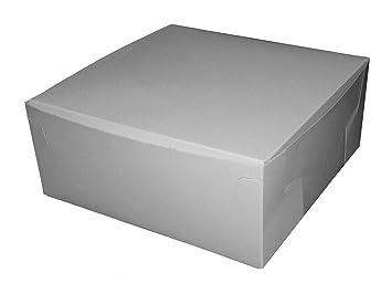 AVM 250 Blanco Caja de cartón para Pasteles (6 x 6 x ...
