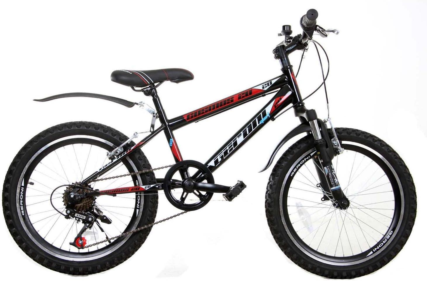 Cosmos 24 pulgadas bicicleta bicicleta de montaña de 21 velocidades Shimano Negro de color rojo: Amazon.es: Deportes y aire libre