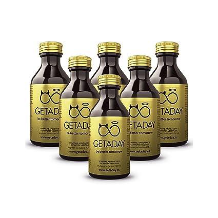 GETADAY   Previene y combate la resaca   Pack 6x100 ml