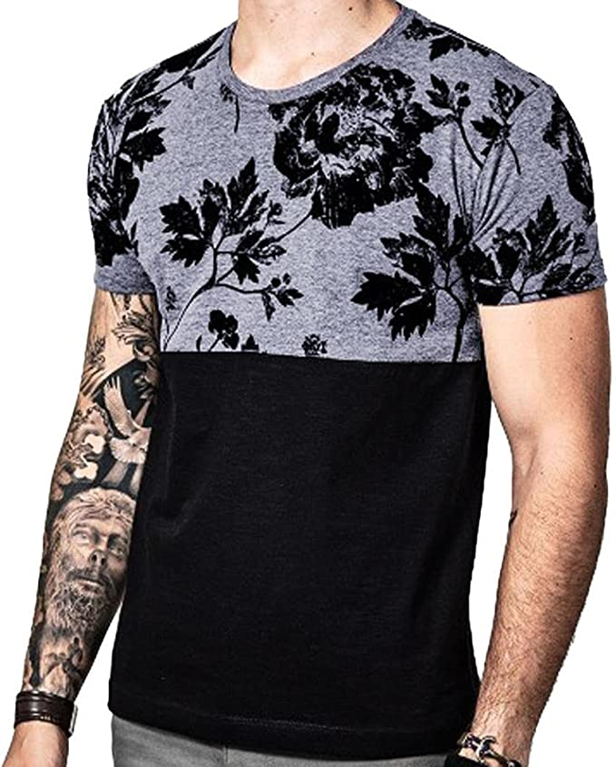 Bovake Homme T-Shirt, Été Loisir Top à Manches