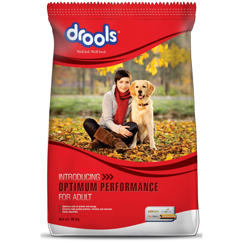 Drools Optimum Performance Adult Dog Food 20kg Amazon In Pet Supplies