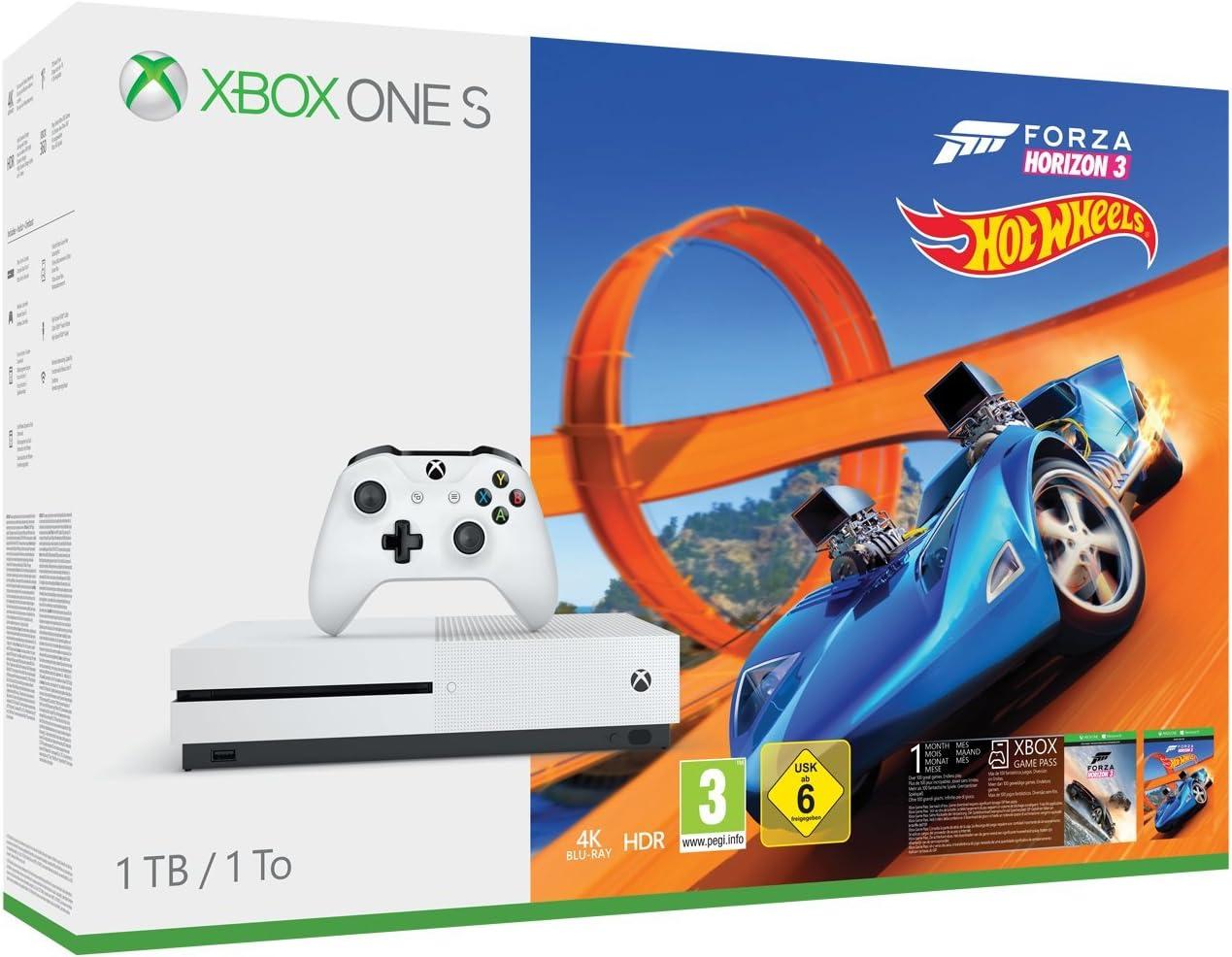 Xbox Una Consola s 1 TB - Forza Horizon 3 Hot Wheels Bundle: Amazon.es: Juguetes y juegos