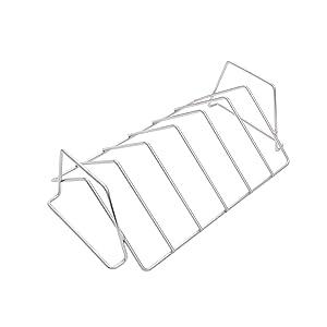 Char-Broil 1944364R04 Grill+ Rib & Roast Rack, Silver