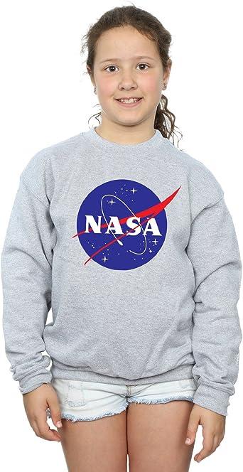 JOAYIN Fille Sweat /à Capuche NASA Imprim/é avec Insigne de Cercle Sweat-Shirt Court Ludique Enfant Pull /à Logo Classique