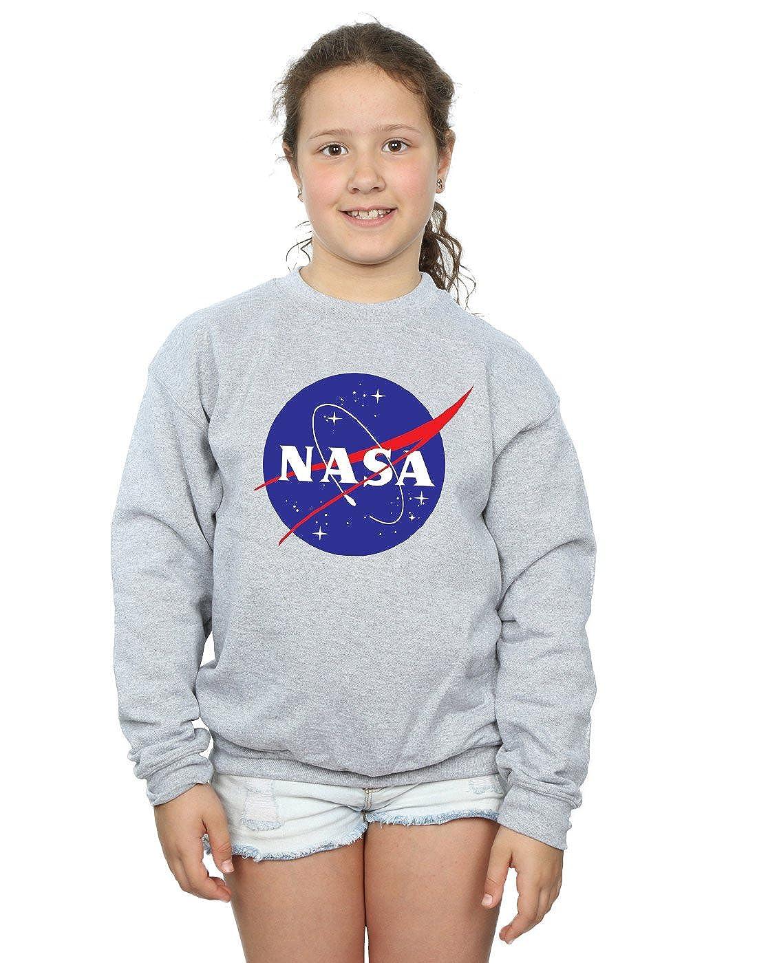 Nasa Girls Classic Insignia Logo Sweatshirt Absolute Cult