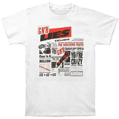 Amazon Com Guns N Roses Men S Lies T Shirt White Clothing
