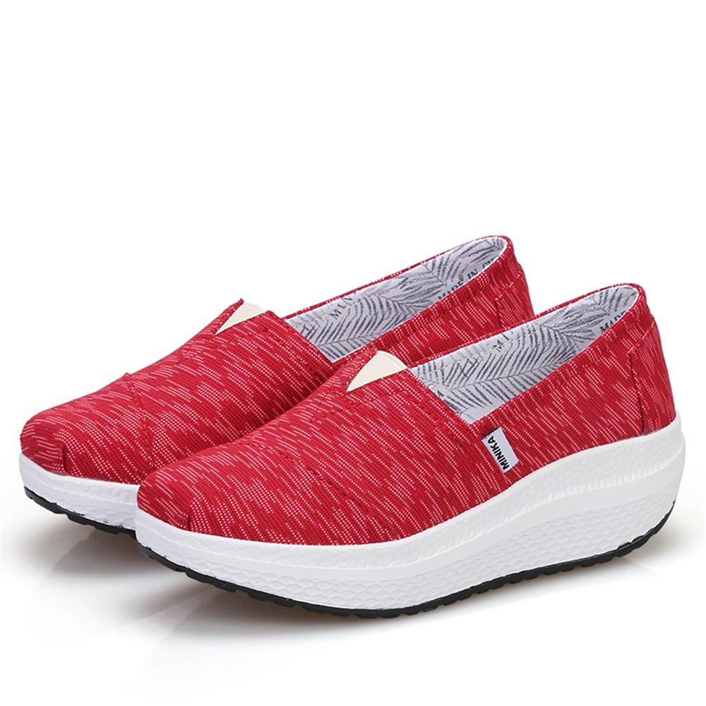 Believed Women Girls Shape UPS Breathable Lightweight Shake Rocker Shoes Slip On Fitness Toning Walking Sneakers Wedges