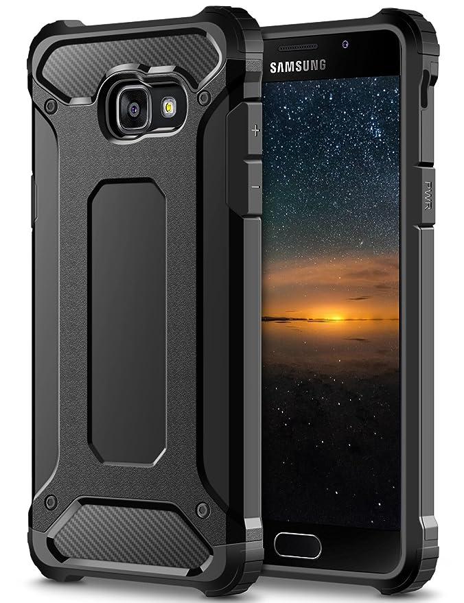 Coolden Samsung Galaxy A5 2017 Hülle, Premium [Armor Serie] Outdoor Stoßfest Schutzhülle Tough Silikon + Hard Bumper 4 Air Cu