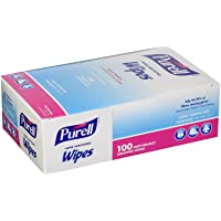 Purell 9022-10 Sanitizing Hand Wipes, Individually Wrapped (Pack of 100) (2 Boxes), Pack of 2