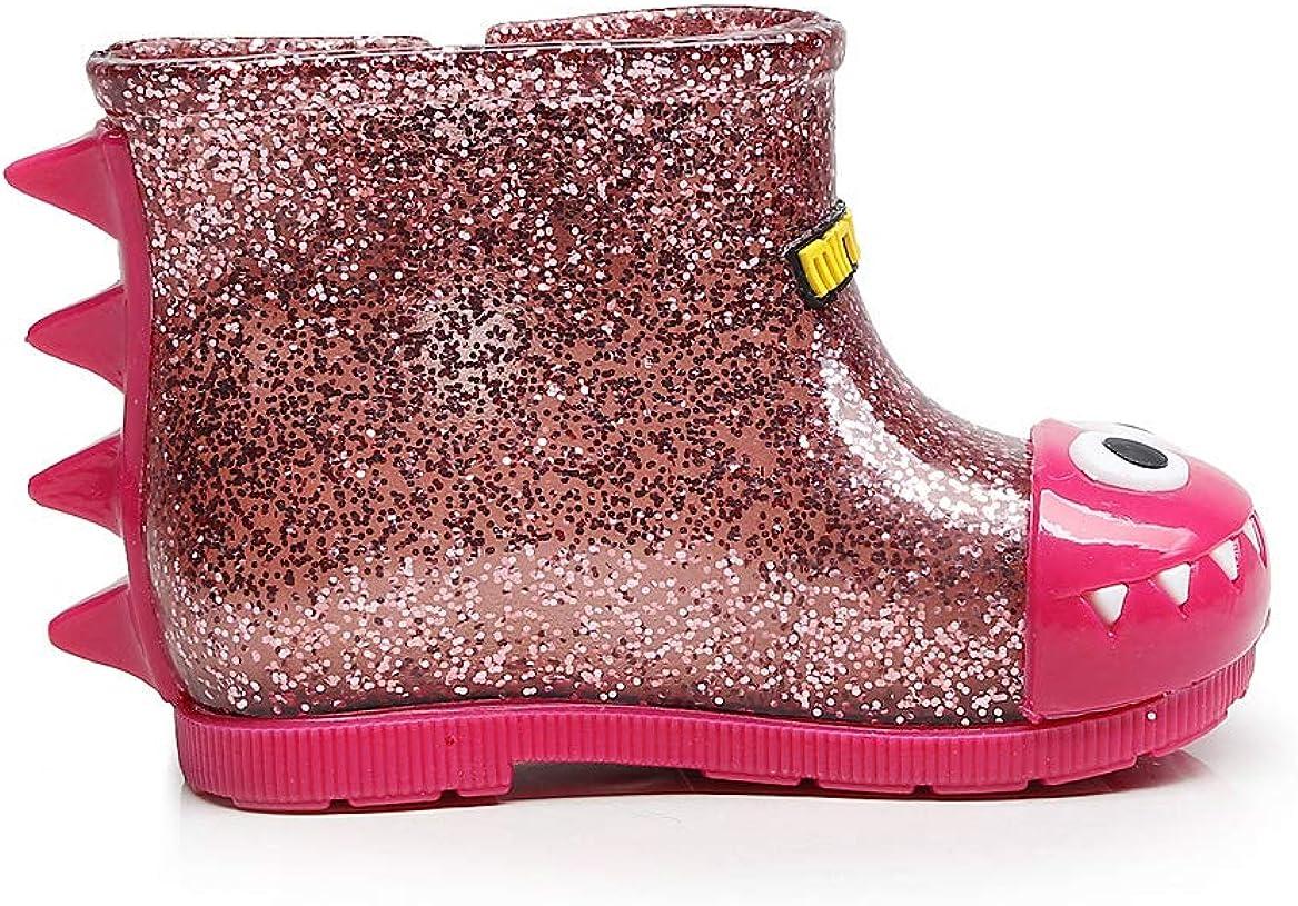 NOMSOCR Toddler Kids Glitter Waterproof Rain Boot Lightweight and Anti-Skid