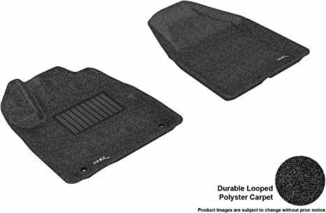 L1MZ01312209 Classic Carpet 3D MAXpider Front Row Custom Fit Floor Mat for Select Mazda3 Models Black