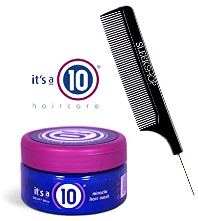 It s a 10 Ten – Miracle Hair Mask with Sleek Steel Pin Tail Comb Original, 8 oz
