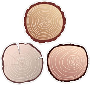 Creative Teaching Press Woodland Friends Wood Slices Cut Outs, 6 in, CTP 8702
