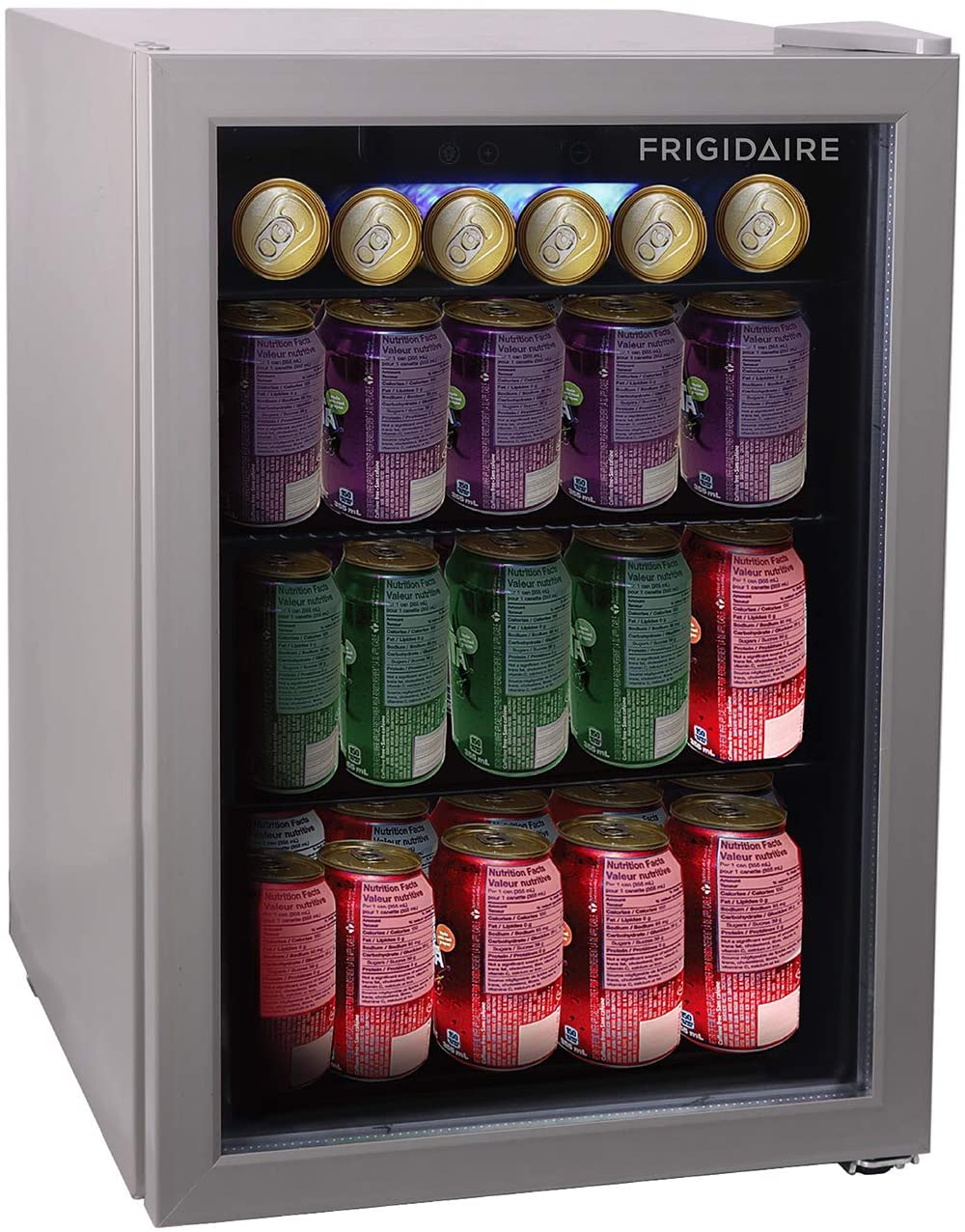 FRIGIDAIRE EFMIS9000-AMZ Freestanding Beverage Center Fridge-Fits 25 Bottles OR 60 Cans, Black