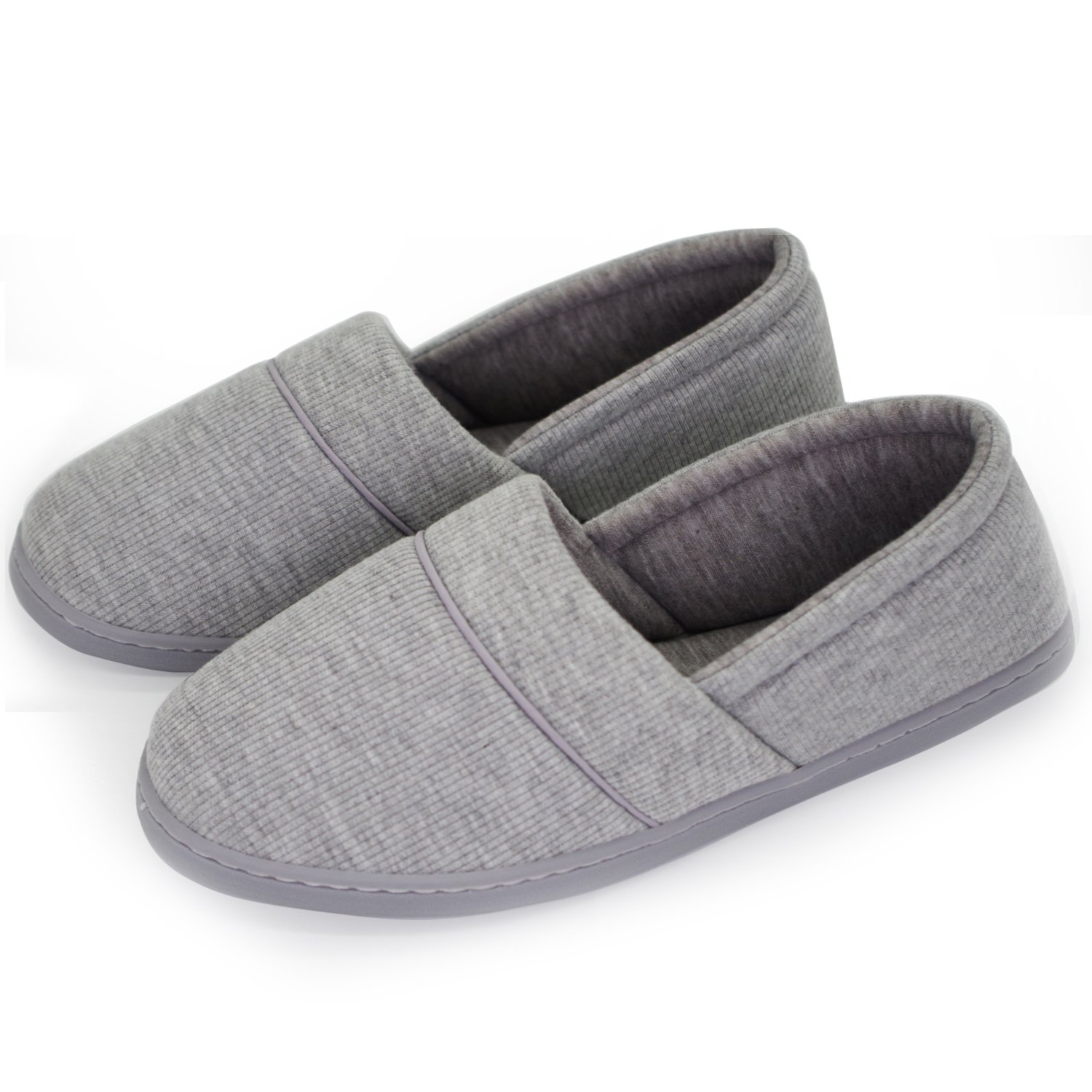 Qiucdzi Womens House Slippers Lightweight Breathable Soft Ladies Slippers Anti-Skid Comfort Cotton Home Shoes