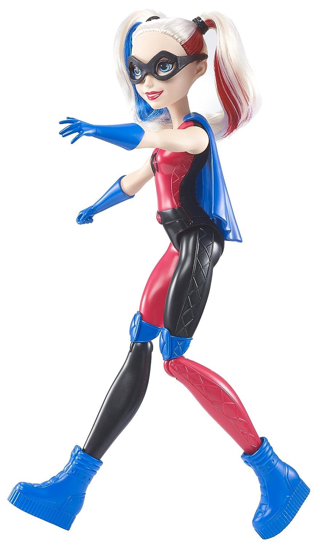 12 12 Mattel FCC70 DC Super Hero Girls Harley Quinn Action Training Dolls