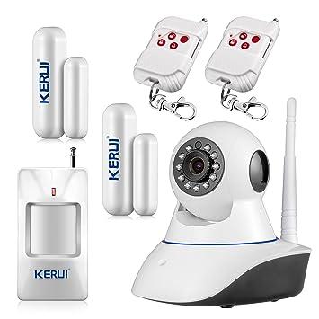KERUI – 720p IP cámara Wifi motorizada infrarrojo seguridad de vídeo IP Vigilancia Inalámbrico Interior Cámara