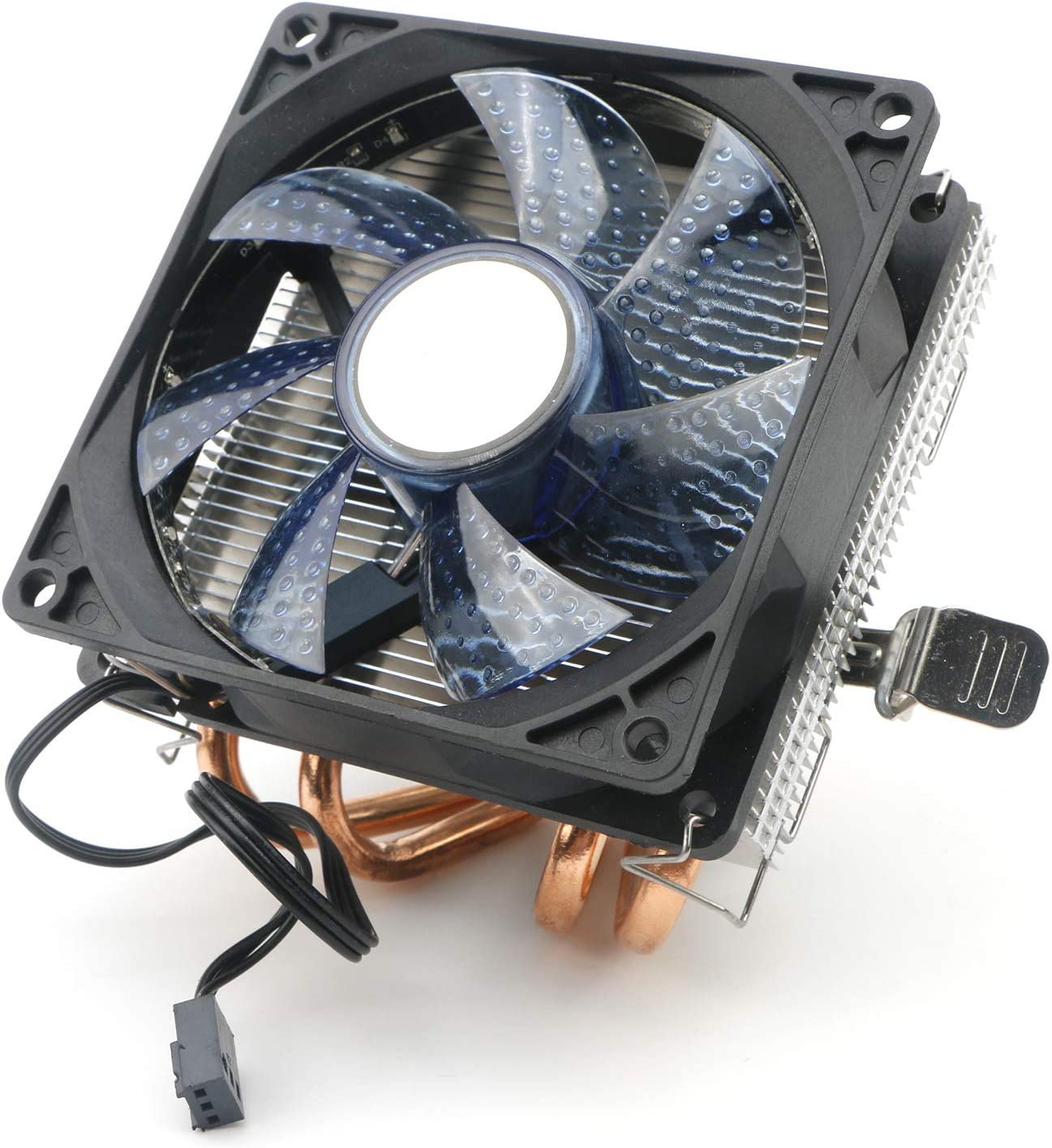 JIUWU CPU Air Cooler 3-Pin Ventilador con 2 Heatpipes Radiador LED ...