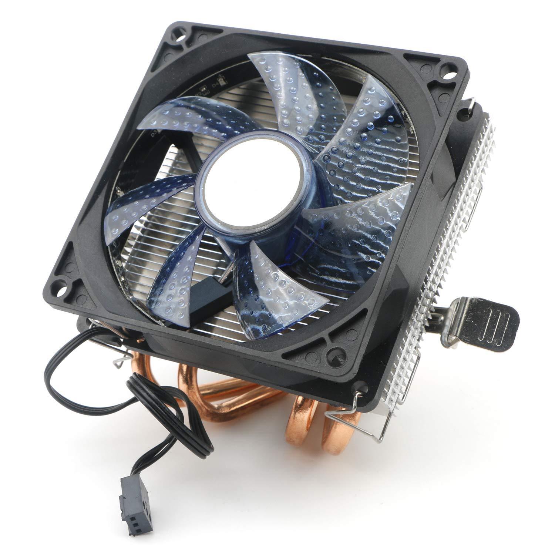 JIUWU CPU Air Cooler 3-Pin Fan with 2 Heatpipes Radiator Blu