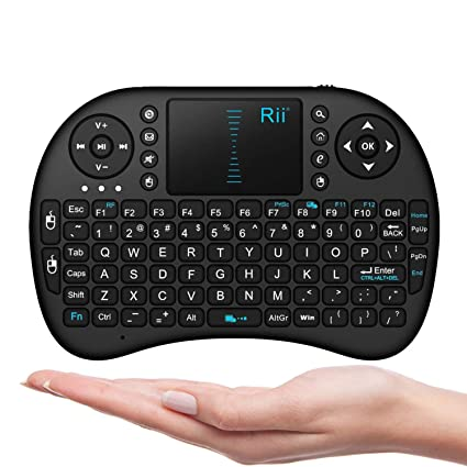 e788868da7a Amazon.com: Rii I8 Mini 2.4Ghz Wireless Touchpad Keyboard With Mouse For  Pc, Pad, Xbox 360, Ps3, Google Android Tv Box, Htpc, Iptv (Black):  Computers & ...