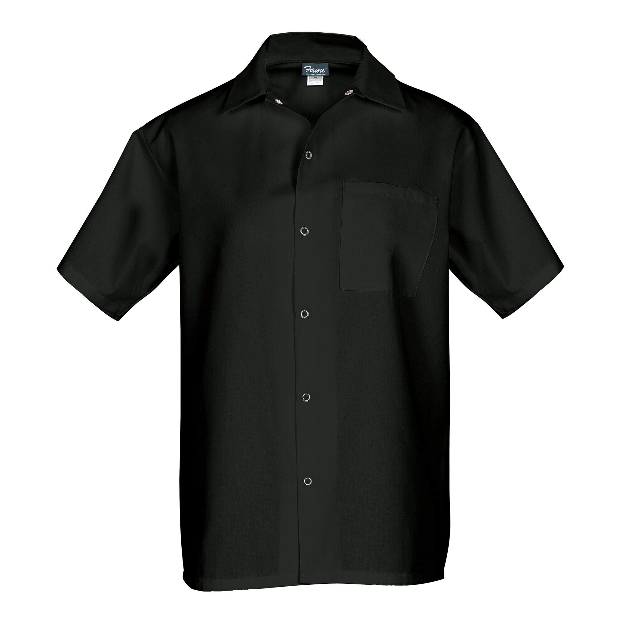 Fame Short Sleeve Cook Shirt (4XL, Black) by Fame