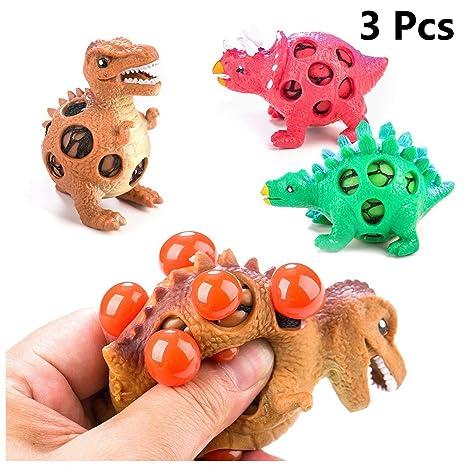 Juguete festivo, bola de presión de dinosaurio 3, colores aleatorios