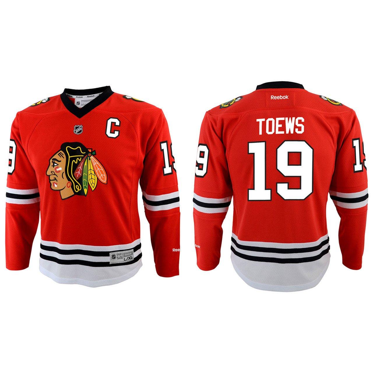 Amazon.com   Chicago Blackhawks Jonathan Toews Youth Team Color Replica  Jersey - Large   X-La   Sports Fan Jerseys   Sports   Outdoors de49fded1