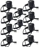 Retevis 2 Pin Shoulder Speaker Mic for Baofeng UV-5R 888S Kenwood Retevis H-777 RT21 RT22 Walkie Talkies (10 Pack)