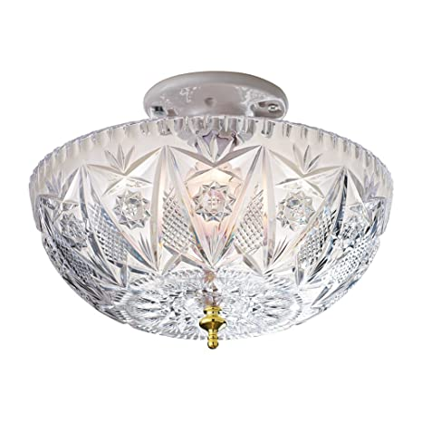 fixture ceiling cover covers faceted glass lighting vintage sunburst light in sold x
