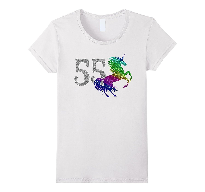 55 Year Old Shirt Unicorn 55th Birthday TShirt