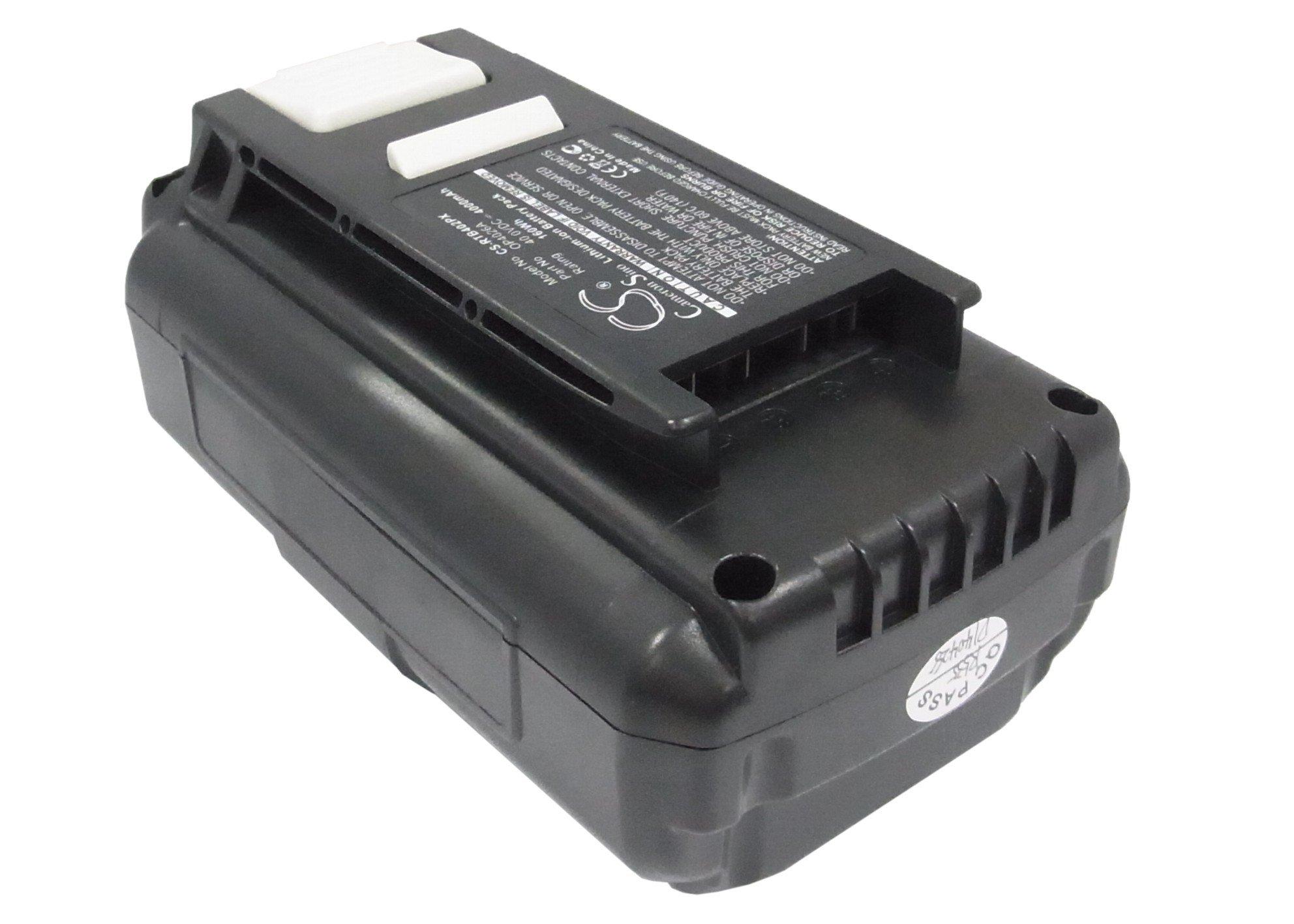 Pearanett 4000mAh / 160.0Wh Replacement Battery for Ryobi RY40500 by Pearanett