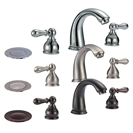 Freuer Colletto Collection Classic Widespread Bathroom Sink Faucet