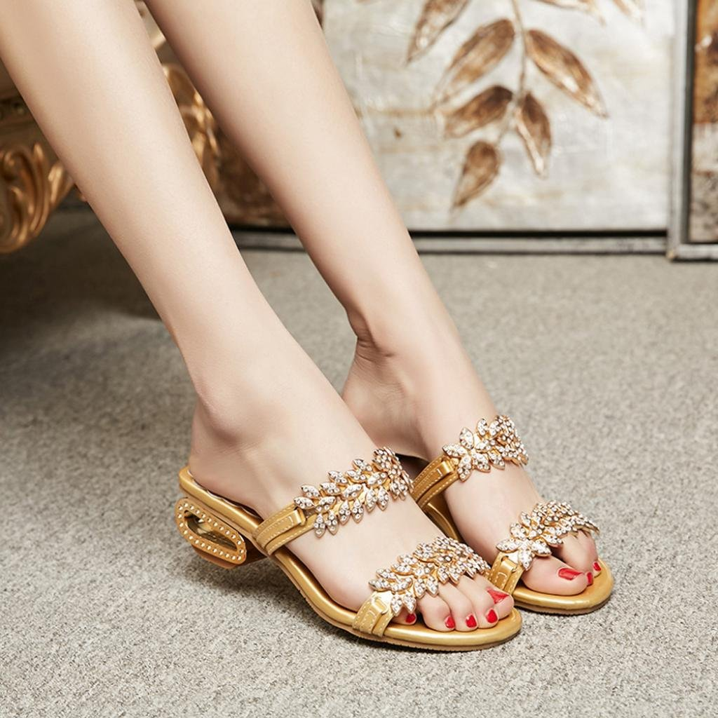 0bba11f5fc37 Amazon.com   Sinwo Women Fashion Rhinestone Slipper Sexy High Heels Sandals  Crystal Party Shoes Flip Flops   Sports   Outdoors