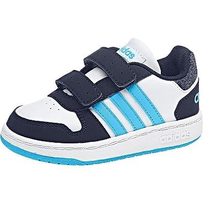 adidas Babies' Hoops 2.0 CMF Low Top Sneakers White Baby Boys