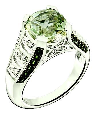 Amazon.com: RB gemas Anillo de plata 925 de ley, auténtica ...