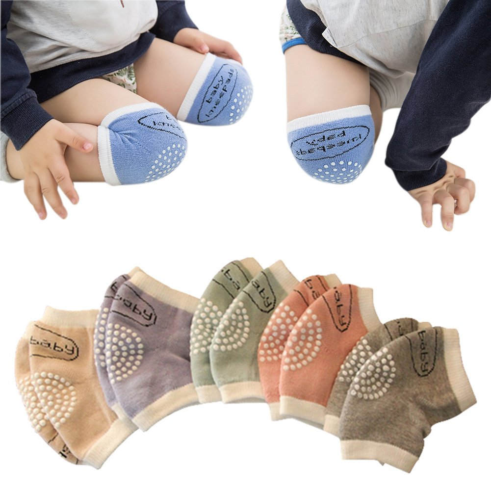 Unisex Baby Toddlers Crawling Kneepads Adjustable Anti-Slip Knee Elbow Pads 5 Pairs