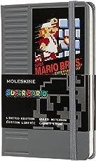 Moleskine Ltd. Edition Notebook, Super Mario, NES Cartridge / Grey, Pocket, Ruled Hard Cover (3.5 x 5.5)