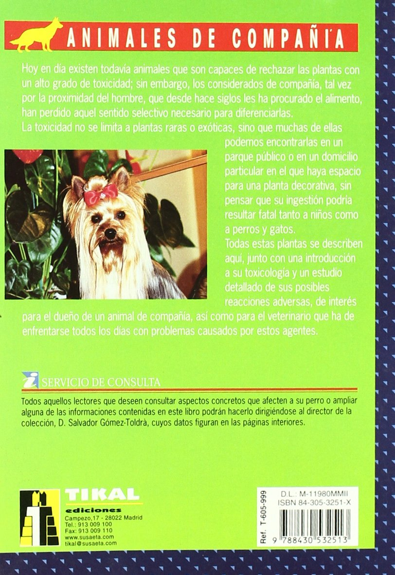Plantas tóxicas para perros y gatos: Anna Vila Coma: 9788430532513: Amazon.com: Books