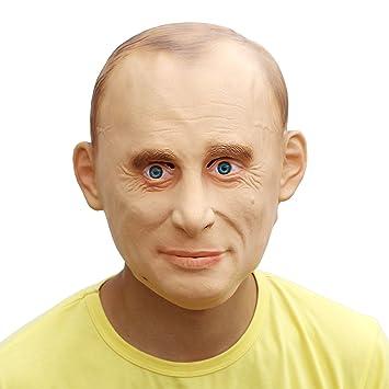 PartyCostume Máscara de Cabeza Humana de Fiesta de Traje Lujo de Halloween de Putin