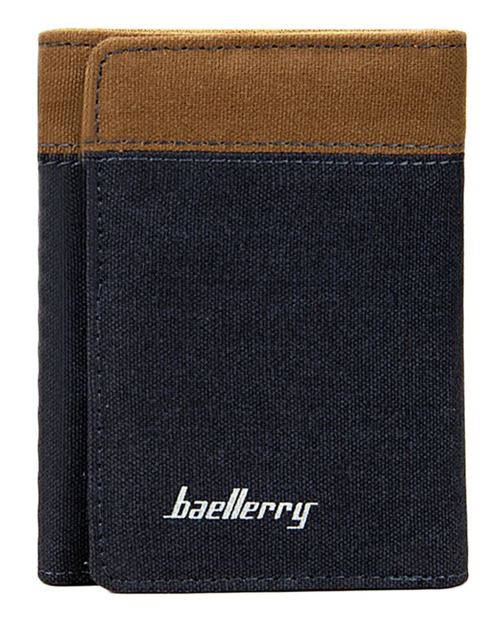 Lukis Canvas Mens Trifold Wallets Business Credit Card Holder Coin Pocket Men Wallet Purse Blue