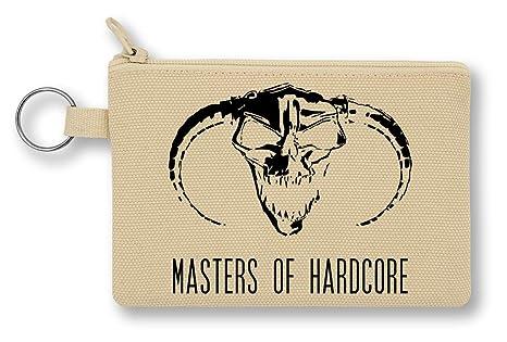 Master of Hardcore Black Evil Logo Monedero de Lona con ...