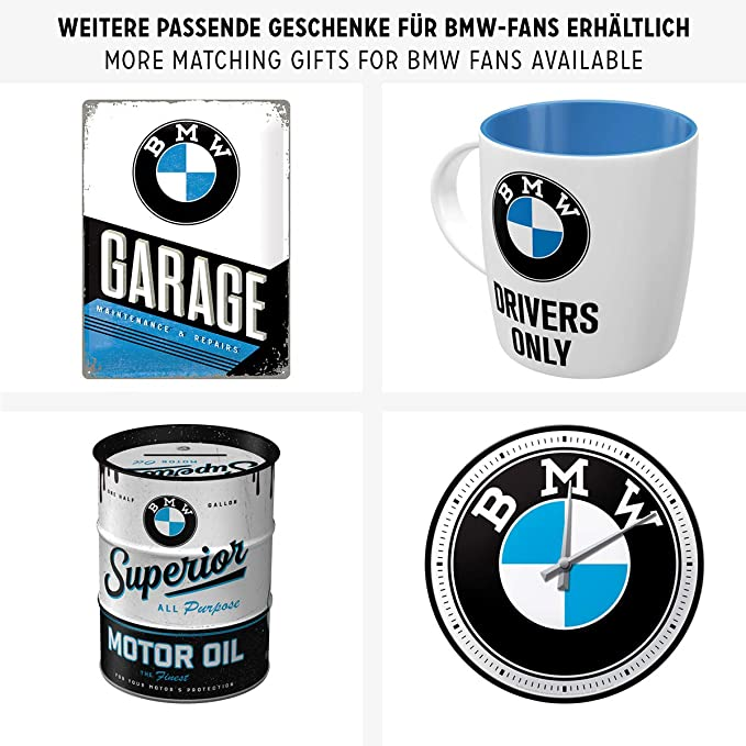 Nostalgic Art Po26177 Bmw Parking Parking Only Blue Geschenk Idee Für Auto Zubehör Fans Retro Blechschild Aus Metall Vintage Design Zur Dekoration 15 Auto