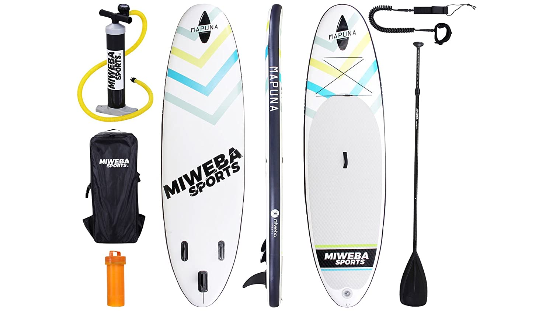 Mapuna - Tabla de surf de remo Minewa, hinchable, de 305 y 325 cm, 15 cm de grosor, con remo y muchos accesorios, color blanco: Amazon.es: Deportes y aire ...