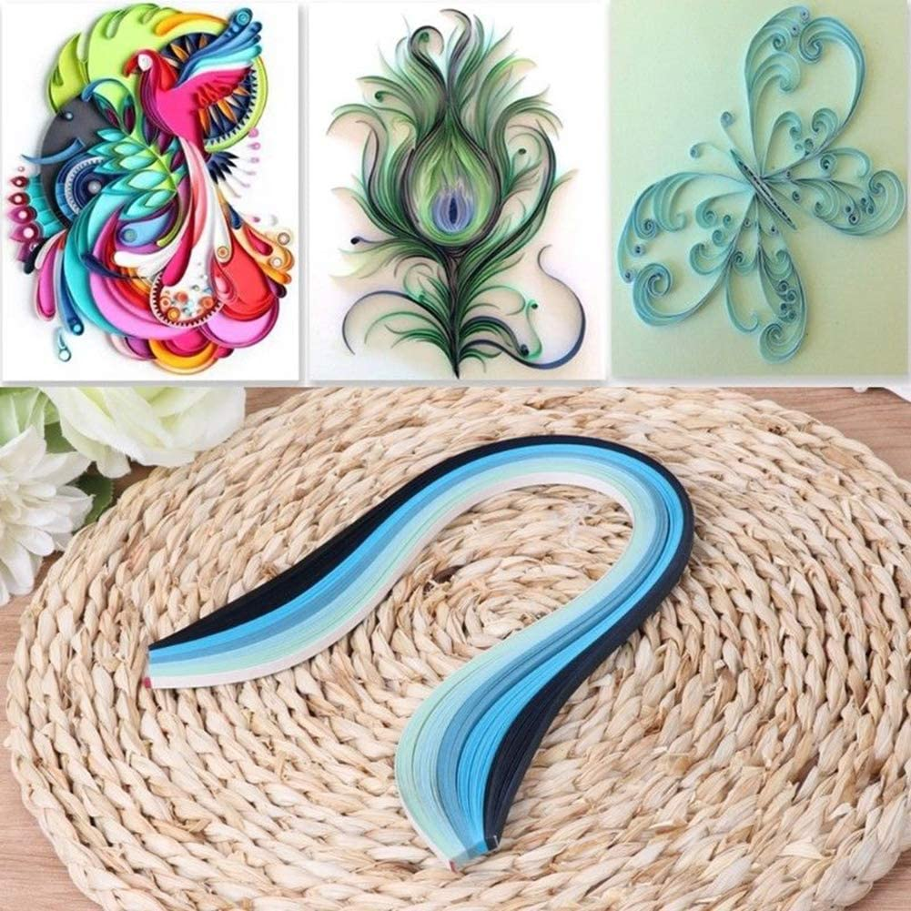 100Pcs 5mm Gradient Color Paper Quilling Strips for DIY Handmade Craft Project Gift for Family Friends100Pcs 5mm Gradient Color Paper Quilling Strips for DIY Handmade Craft Project HUAhuako
