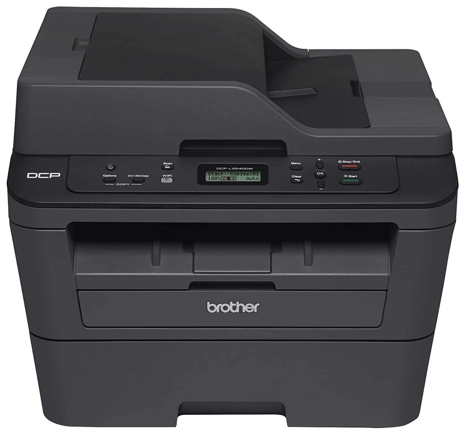 Brother DCPL2540DW Wireless Compact Laser Printer, Amazon Dash Replenishment Enabled Brother Printer