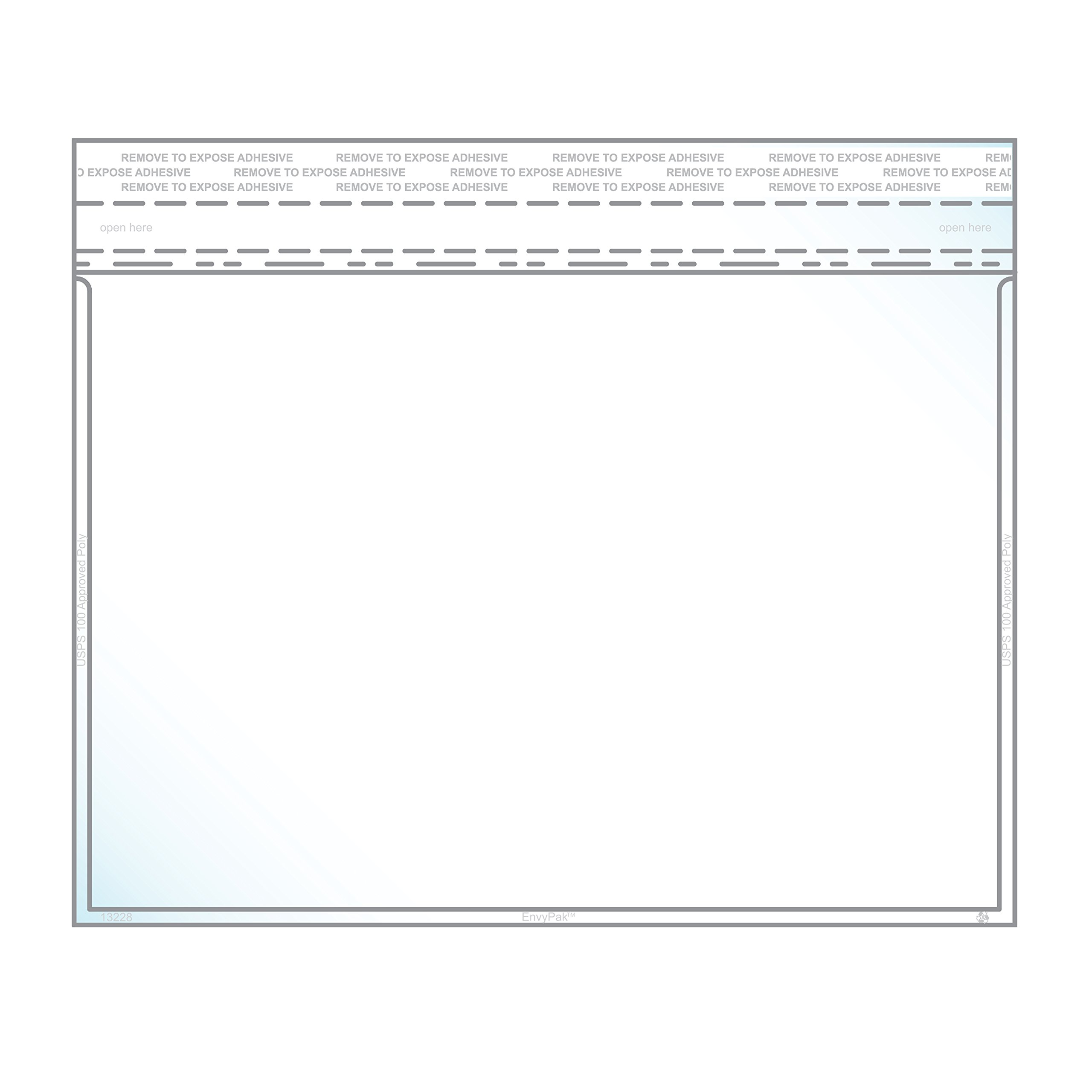 6.56″ x 9.38″ Booklet Envelope Crystal Clear, Permanent Tape (6.25″ x 9″ Insert Size) - Pack of 600