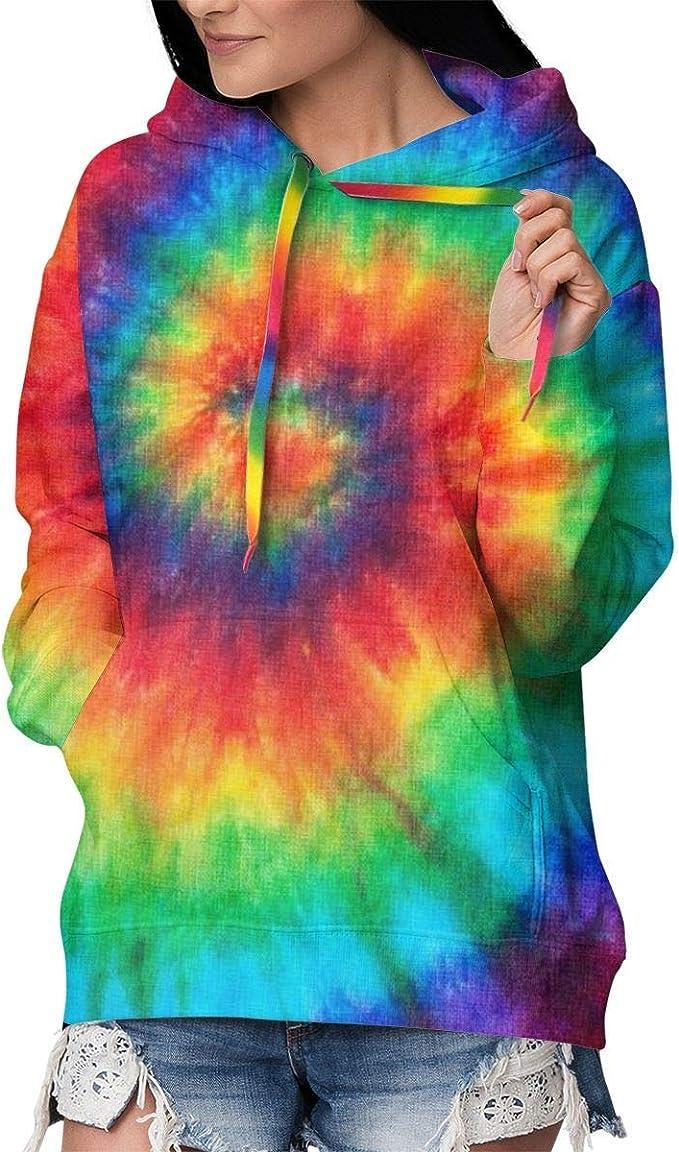 Solardream Mujer Sudaderas con Capucha Tie Dye Hippies ...