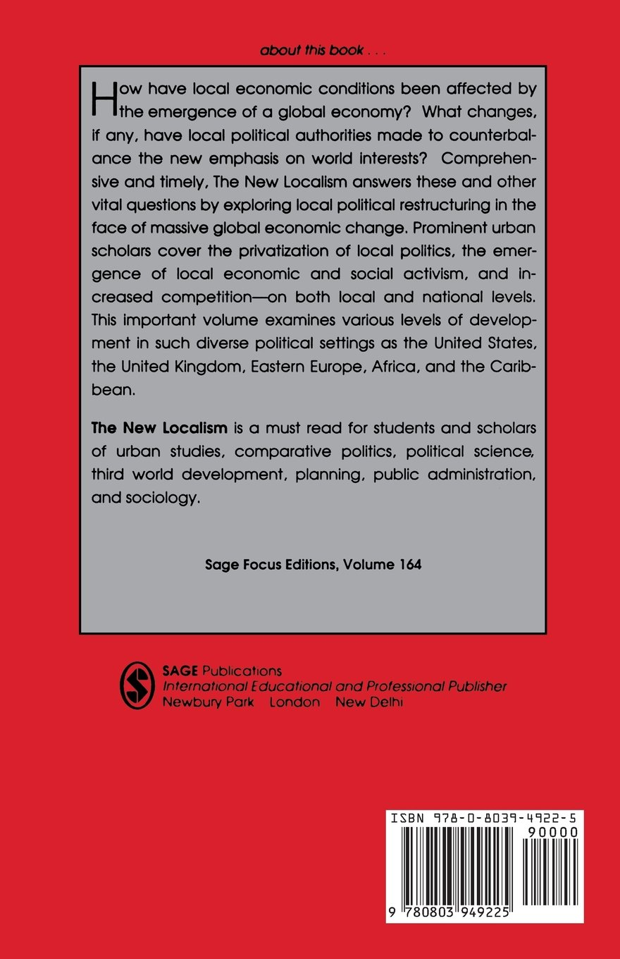 The New Localism: Comparative Urban Politics in a Global Era (SAGE Focus Editions) by SAGE Publications, Inc